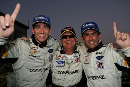 Oliver Gavin, Doug Fehan and Olivier Beretta