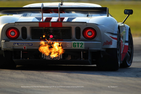 Ford GT Exhaust In Hair Pin @ Sebring 12hr.