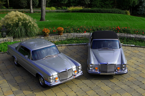 Twin 1971 Mercedes Benz 280 SE 3.5 Coupe and Convertible