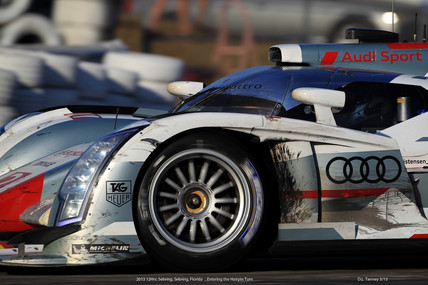 Battle Worn Audi R ETron- Sebring