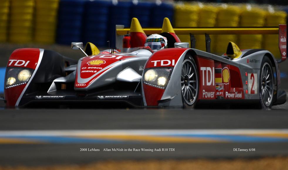 Allan McNish & Audi R10 TDI winning LeMans