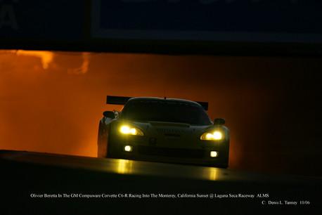 Corvette Day into night Laguna Seca
