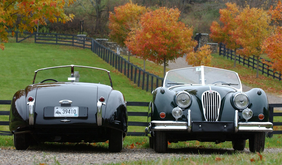 Two 1952 Jaguar XK 120 Aluminum Roadsters- British Car Magazine