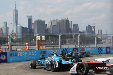 Formula E, GP NY, Red Hook, Brooklyn and NYC Skyline