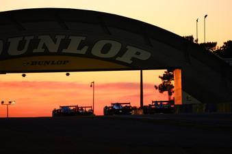 Morning Sunrise Under the Dunlop Bridge @ LeMans