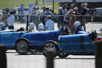Bugatti's Line Up for Their Race, Lime Rock Park 2018