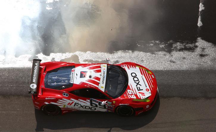 Ferrari and Rain Soaked Pit Lane
