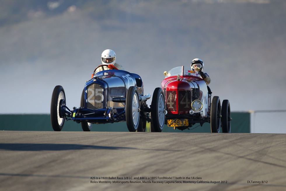 1920 Ballot and 1915 Model T Ford Battle It Out 2012 RMR, Monterey