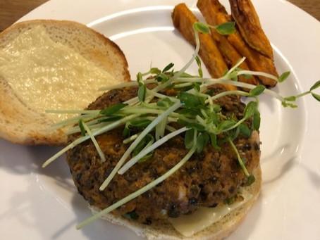 Sweet Potato Vegetarian Burger