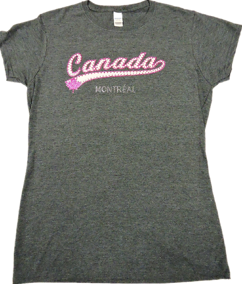 5562-Canada Pink Banner Studs