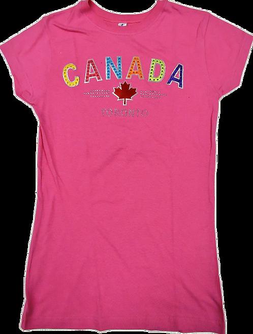5562-Canada Rainbow Leaf Studs