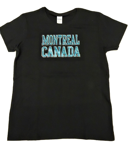 5000L-Montreal Raised Letters Turquoise