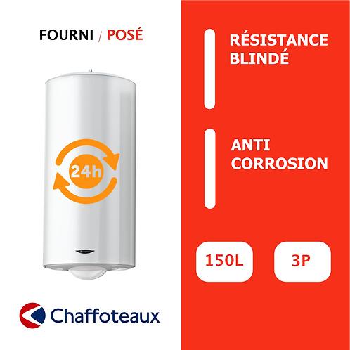 Chauffe-eau 150L Chaffoteaux Blindé, Vertical, Mural