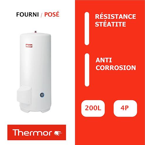 Chauffe-eau 200L Thermor Duralis Aci Hybride, Vertical, Stable sur socle