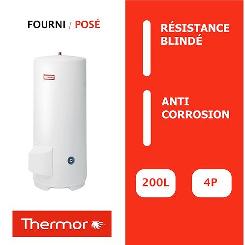 Chauffe-eau 200L Thermor Blindé, Vertical, Stable sur socle