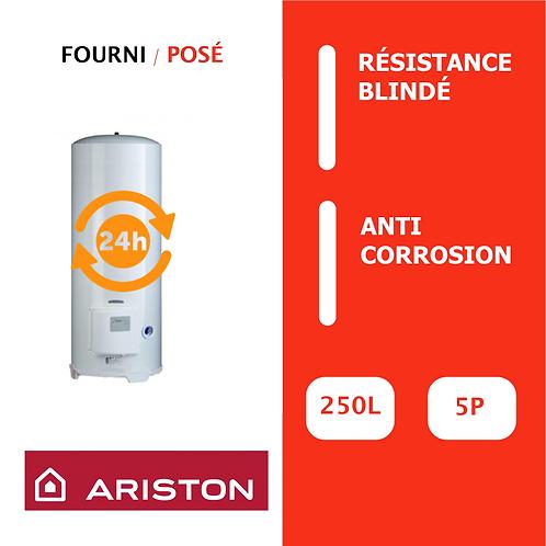 Chauffe-eau 250L Ariston Blindé, Vertical, Stable sur socle