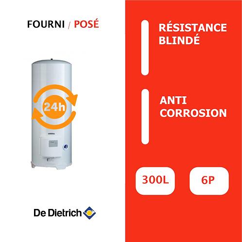 Chauffe-eau 300L De Dietrich Blindé, Vertical, Stable sur socle