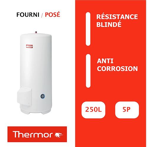 Chauffe-eau 250L Thermor Blindé, Vertical, Stable sur socle