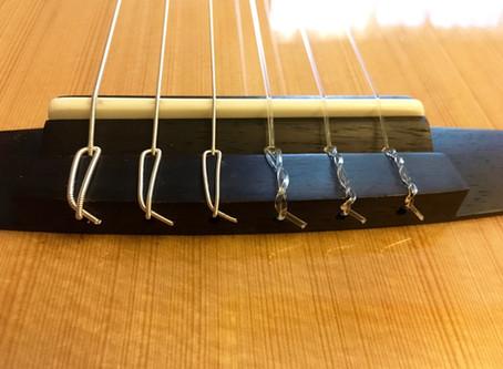 ナイロン弦の交換
