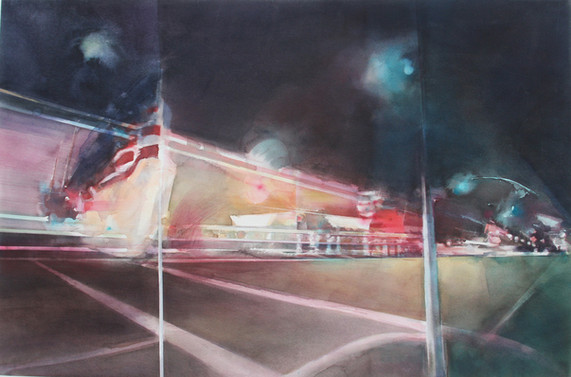 From a small town  130 x 73 cm