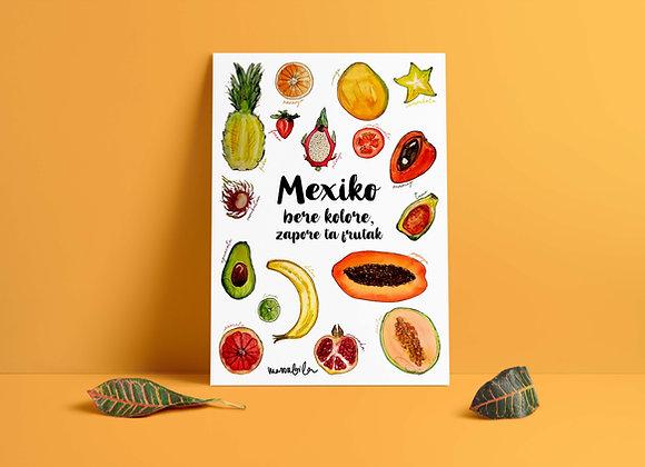 Print Mexiko Frutak
