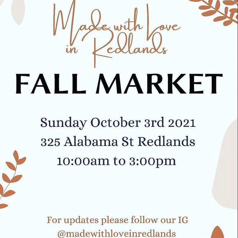 Made with Love in Redlands Fall Market