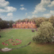 Wrenbury Hall aeril view