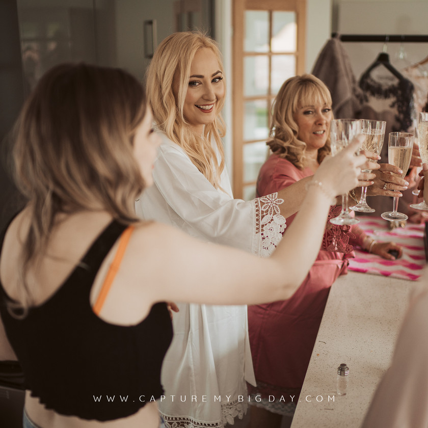 bridal party drinking
