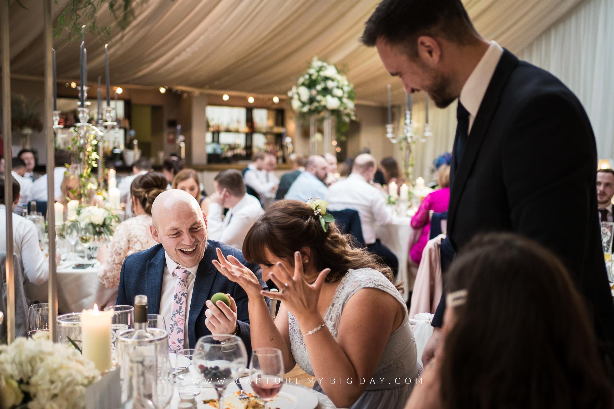 magician at wedding breakfast
