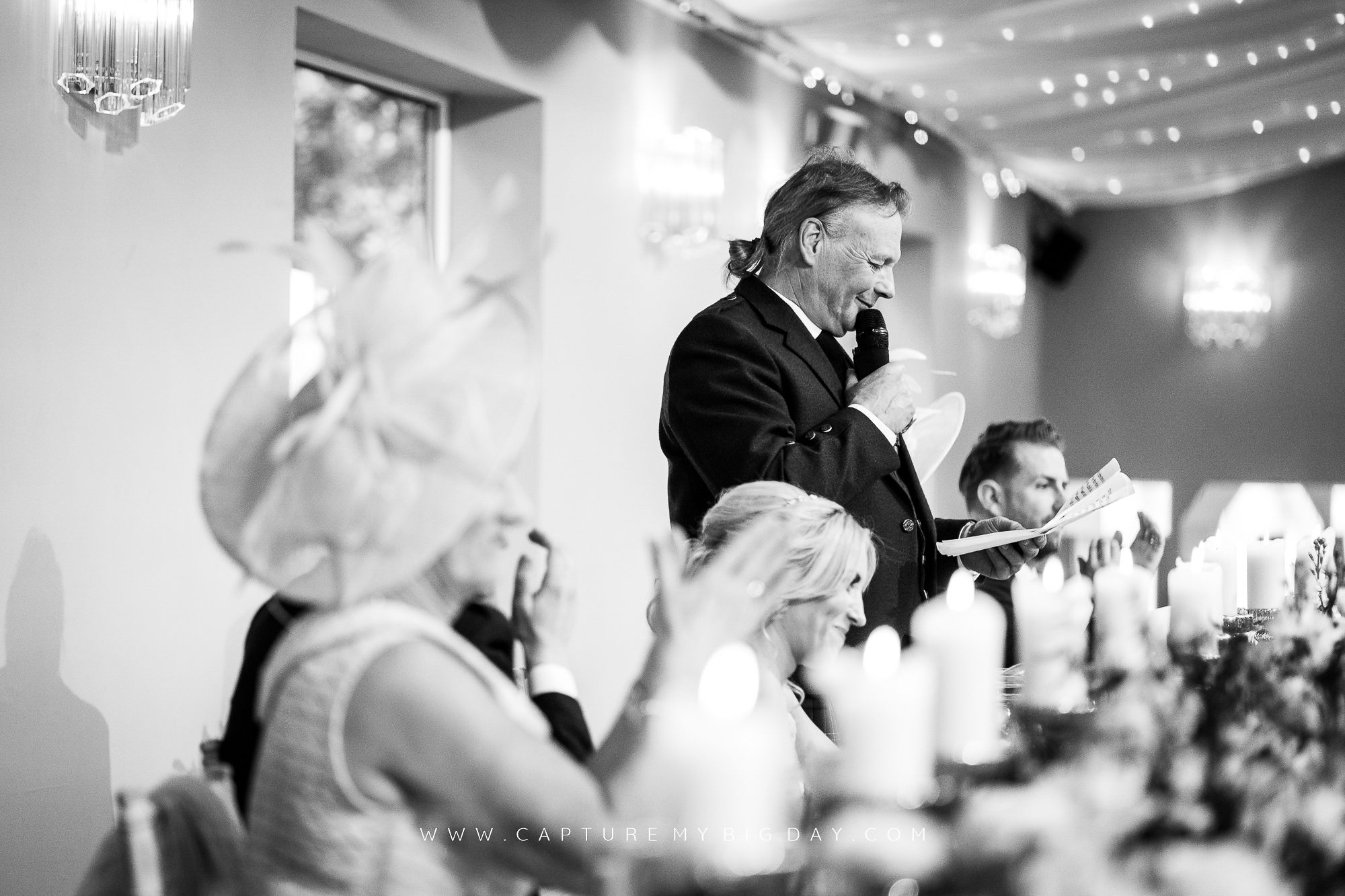 father of bride making a speech