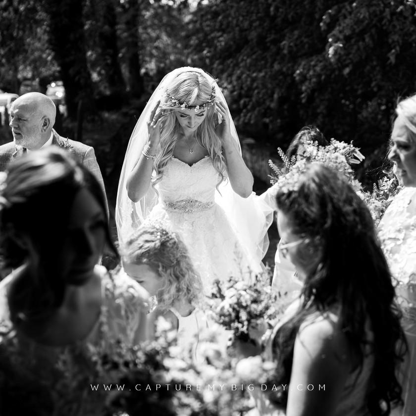 bride at the church