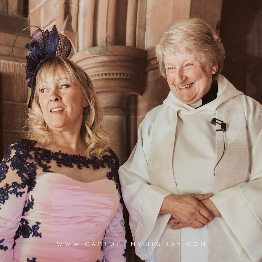 mother of the bride in church