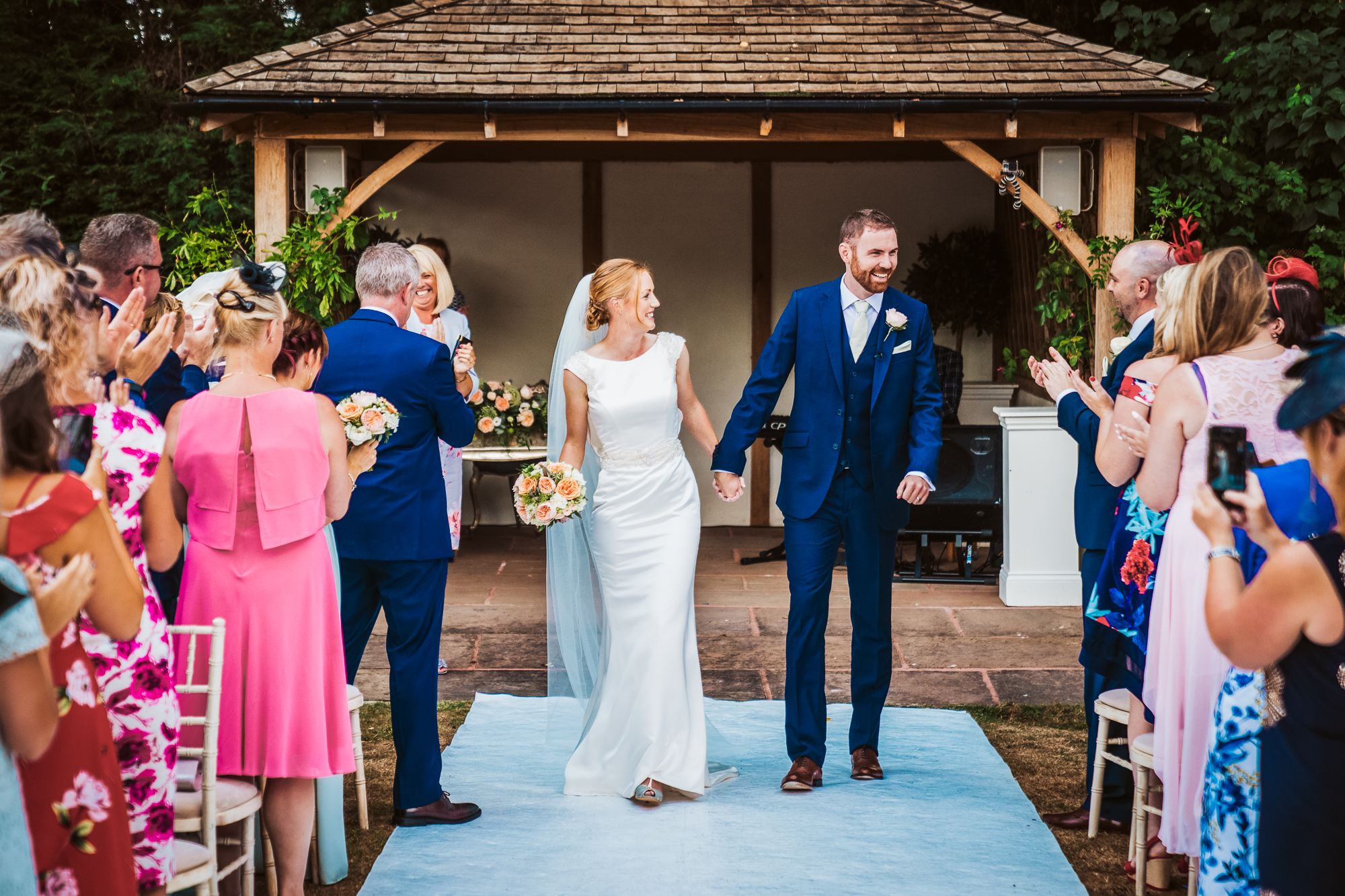 Outdoor Wedding at  Wrenbury Hall