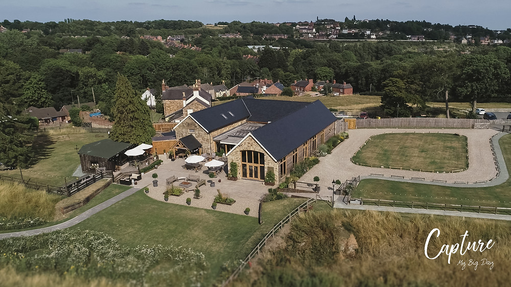 Drone image of Tower Hill Barn
