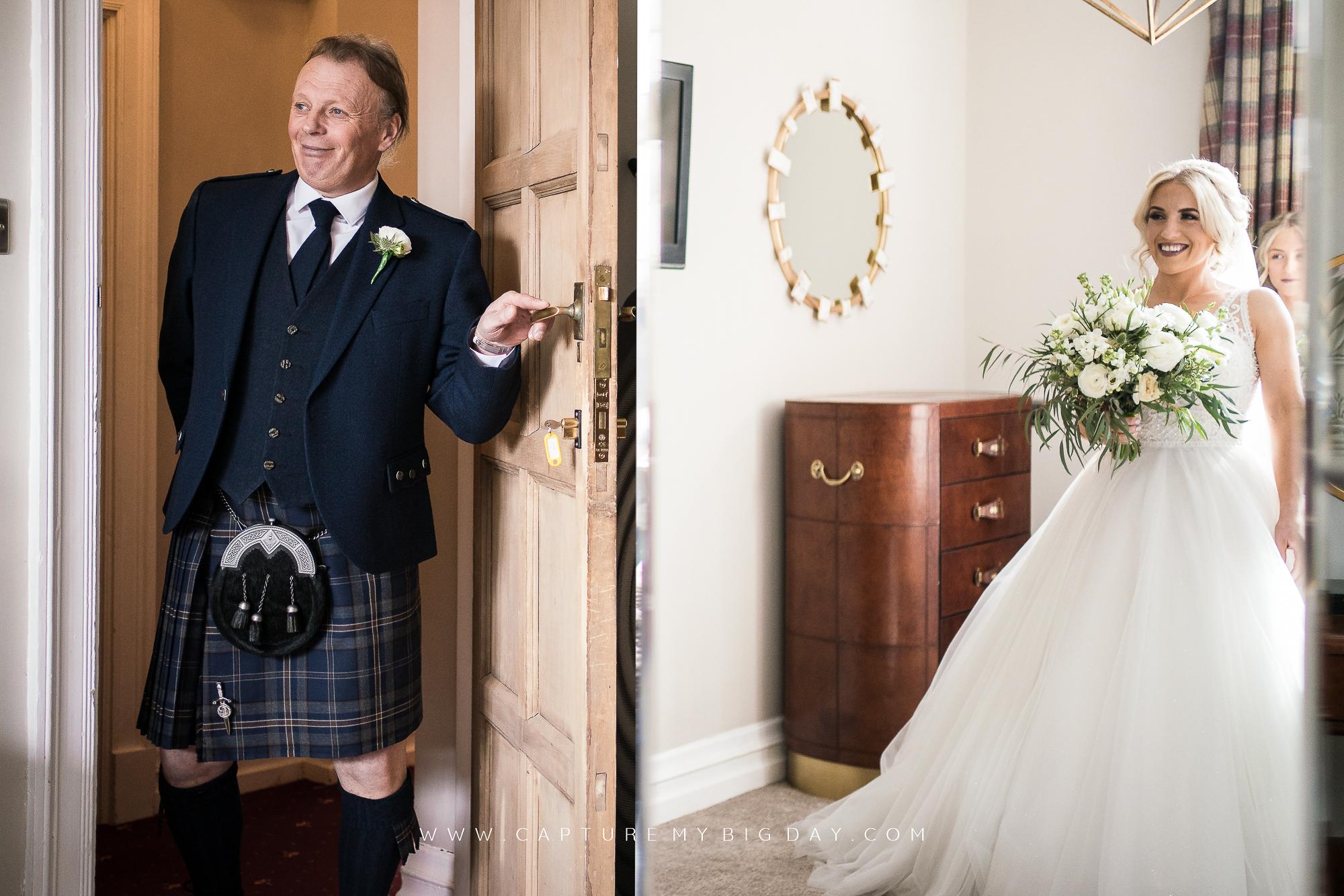 wedding dress revel to father