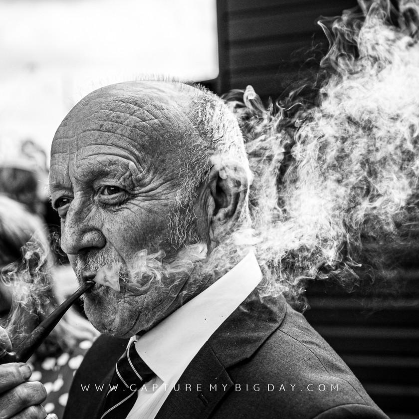wedding guest smoking