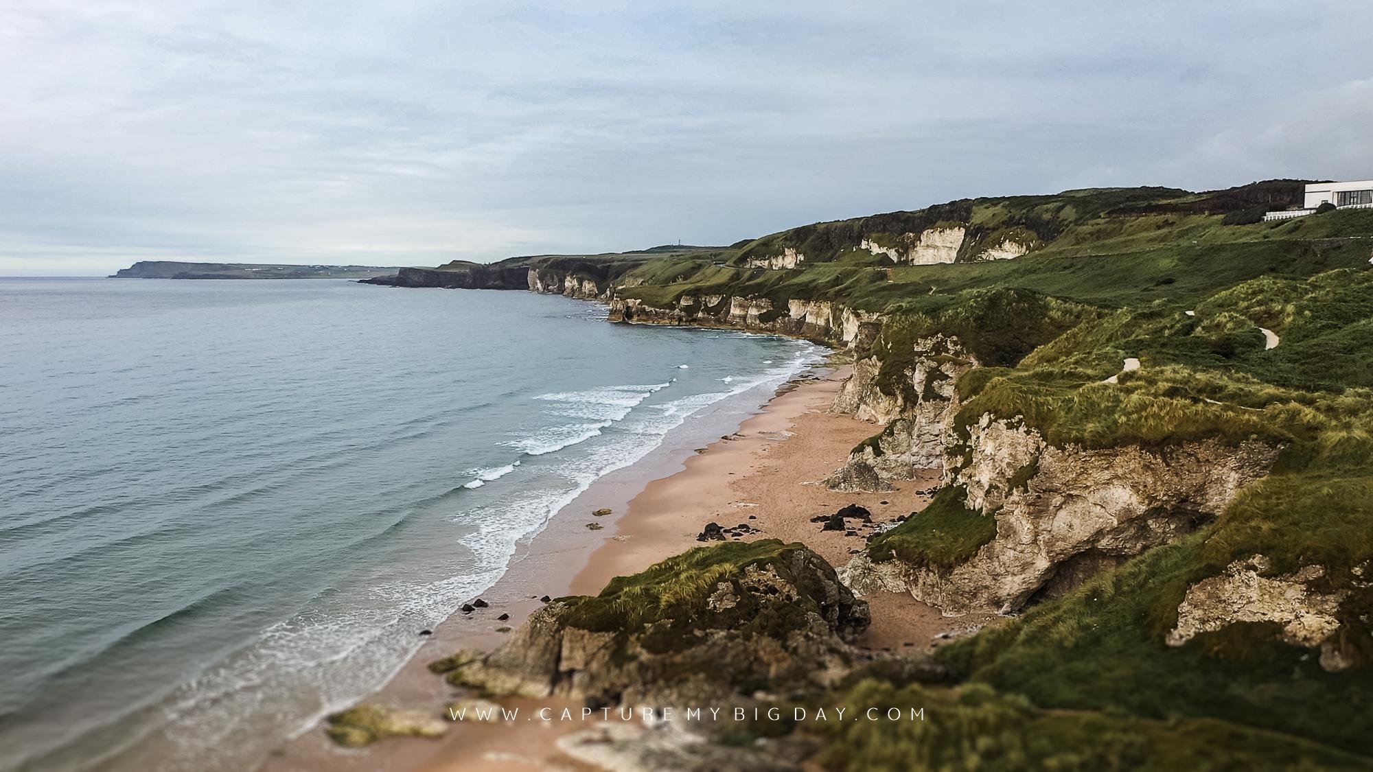 northern Ireland coast line by Dunluce Castle
