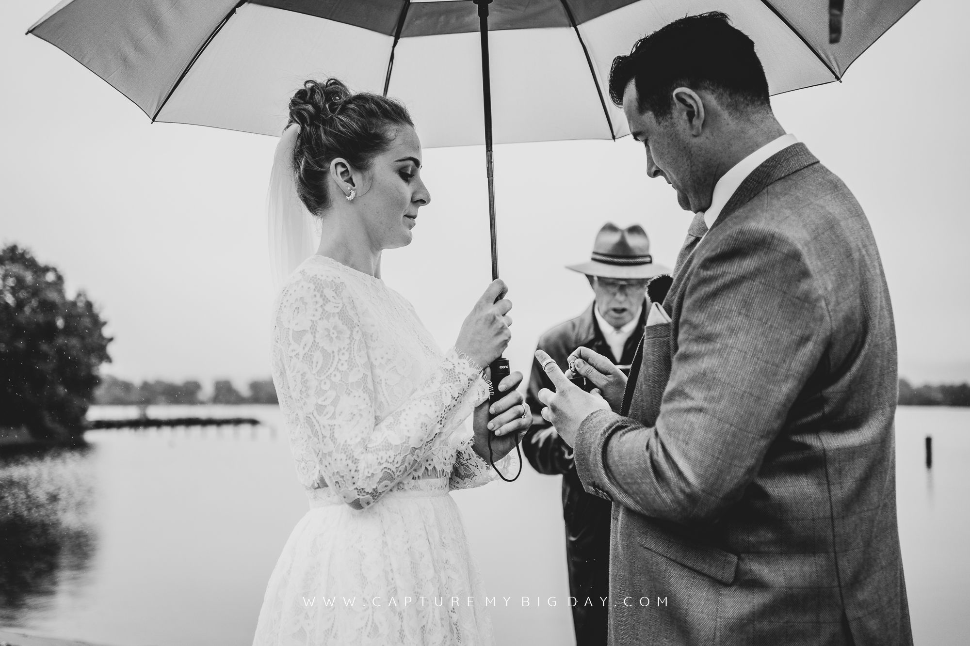 wedding vows at the beach in northern Ireland