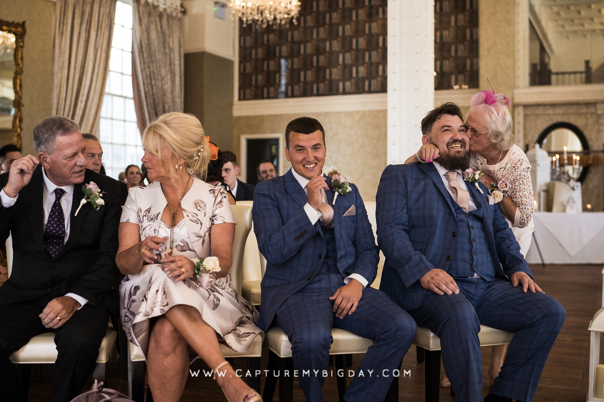 guests waiting for bride in ceremony room at 30 James street