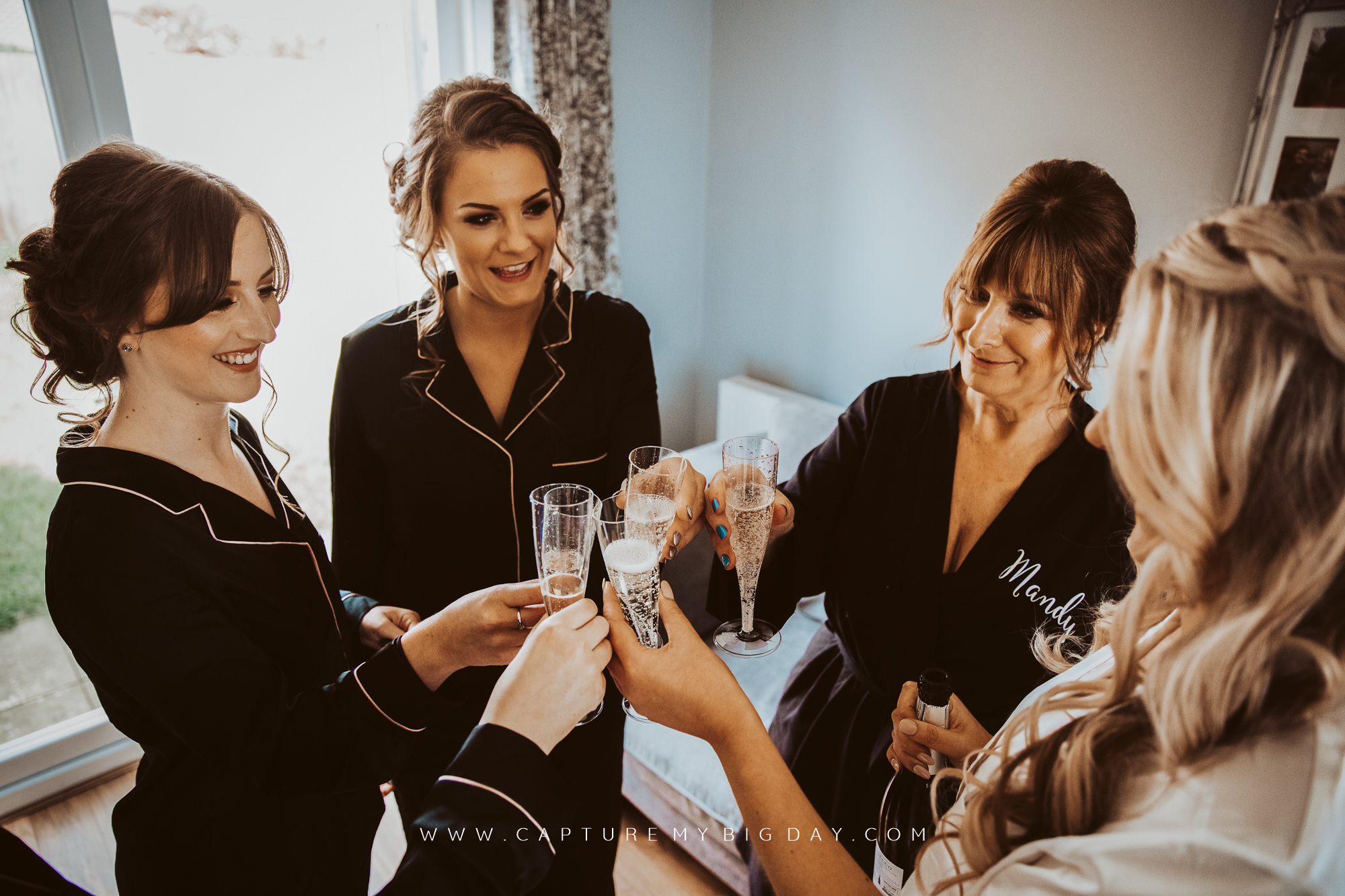 wedding party drinking