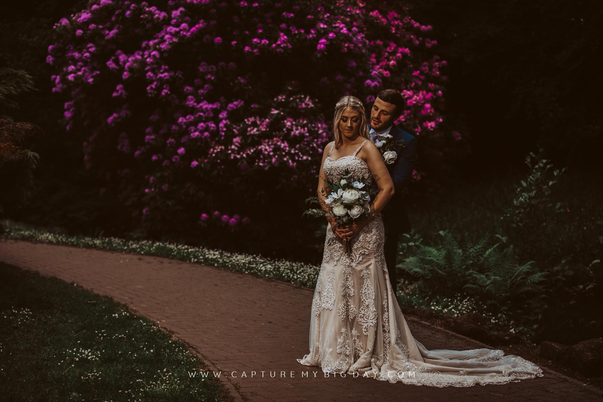 bride and groom in Sefton Park