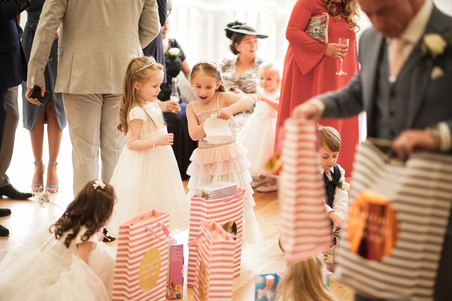 flower girls with gifts