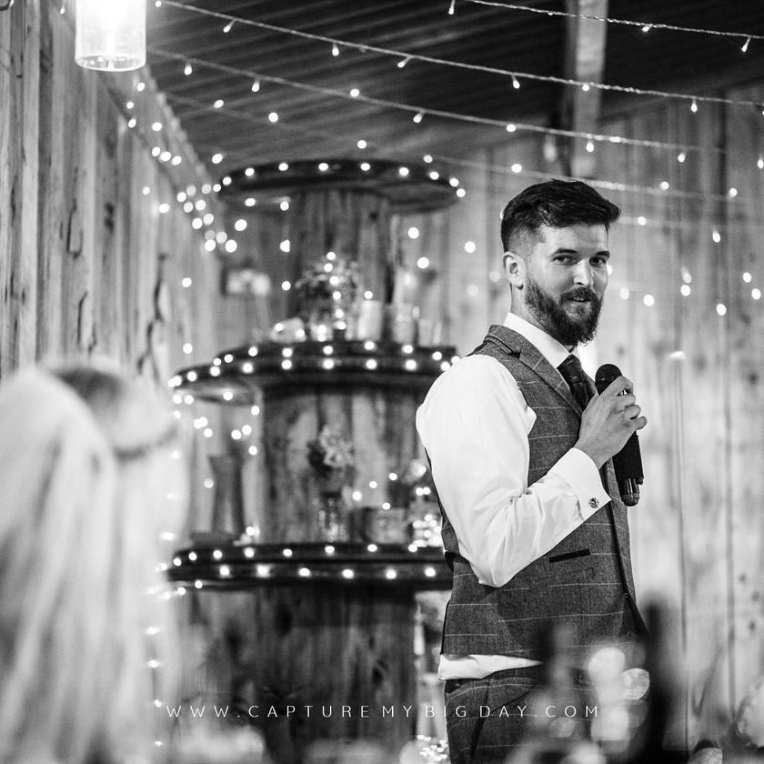 groom making his speech