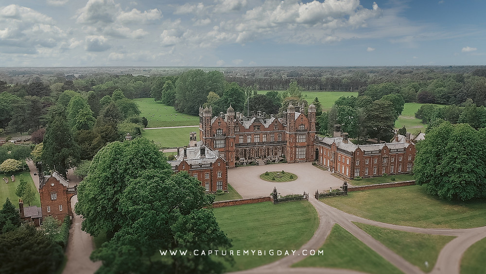 Drone image of Capesthorne Hall