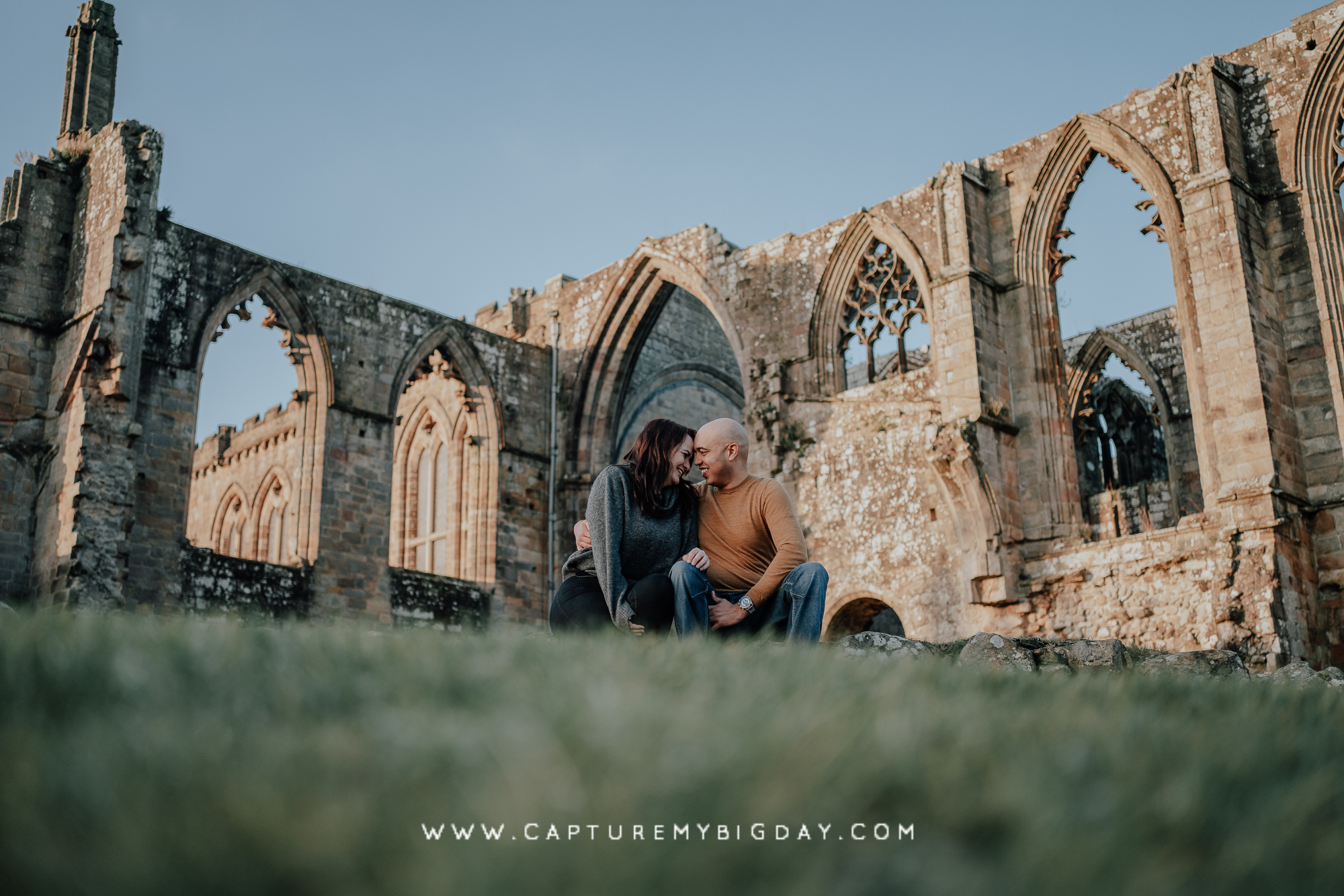 engagement photograph at abbey