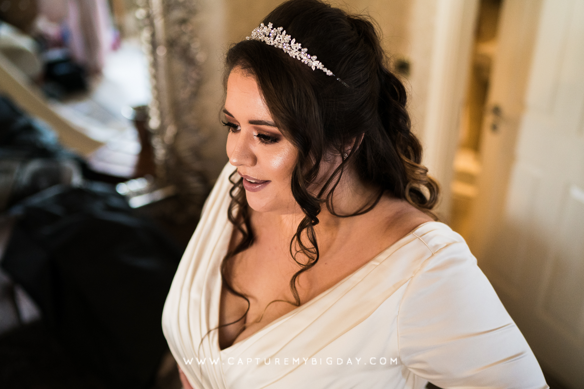 bride getting ready at 30 James street Liverpool