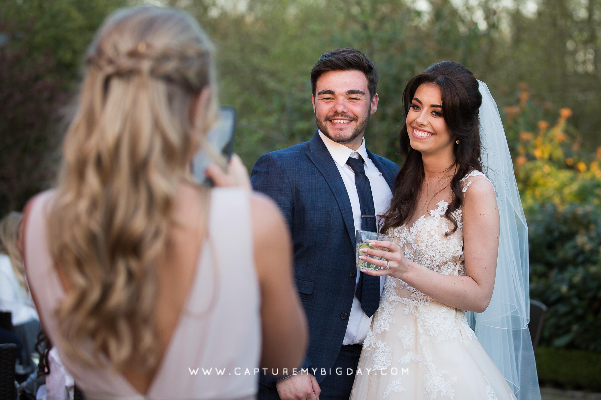 bride with wedding guests