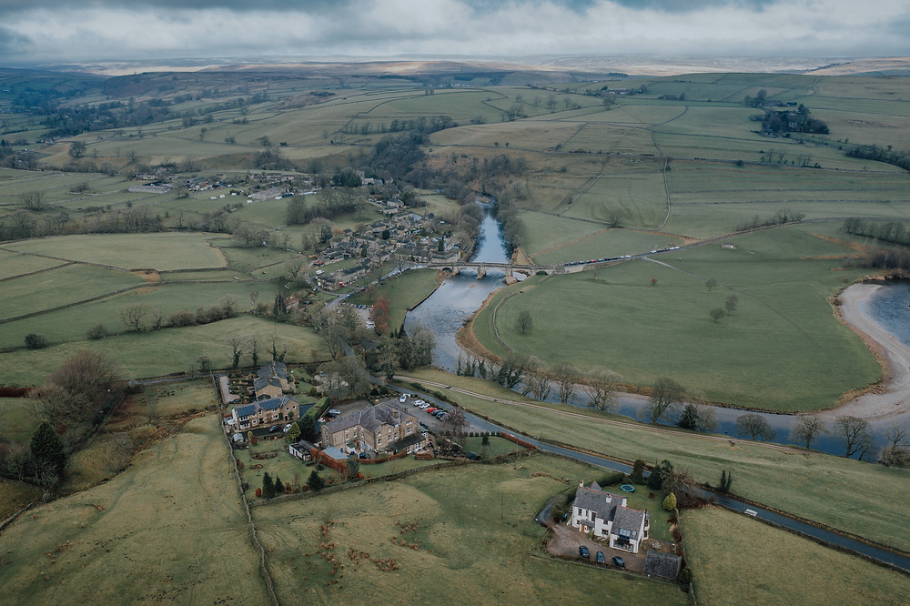 Drone image of the Devonshire Fell