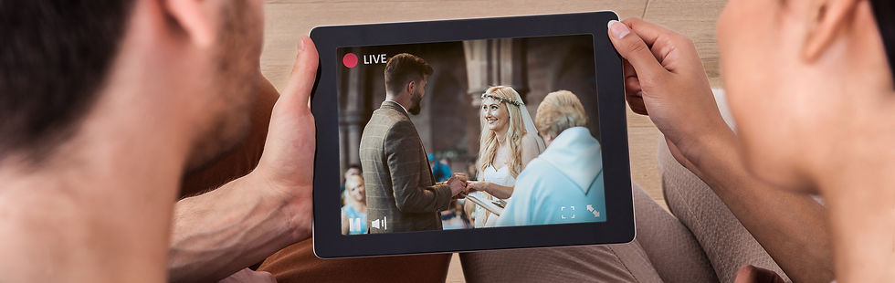 Live streaming wedding example