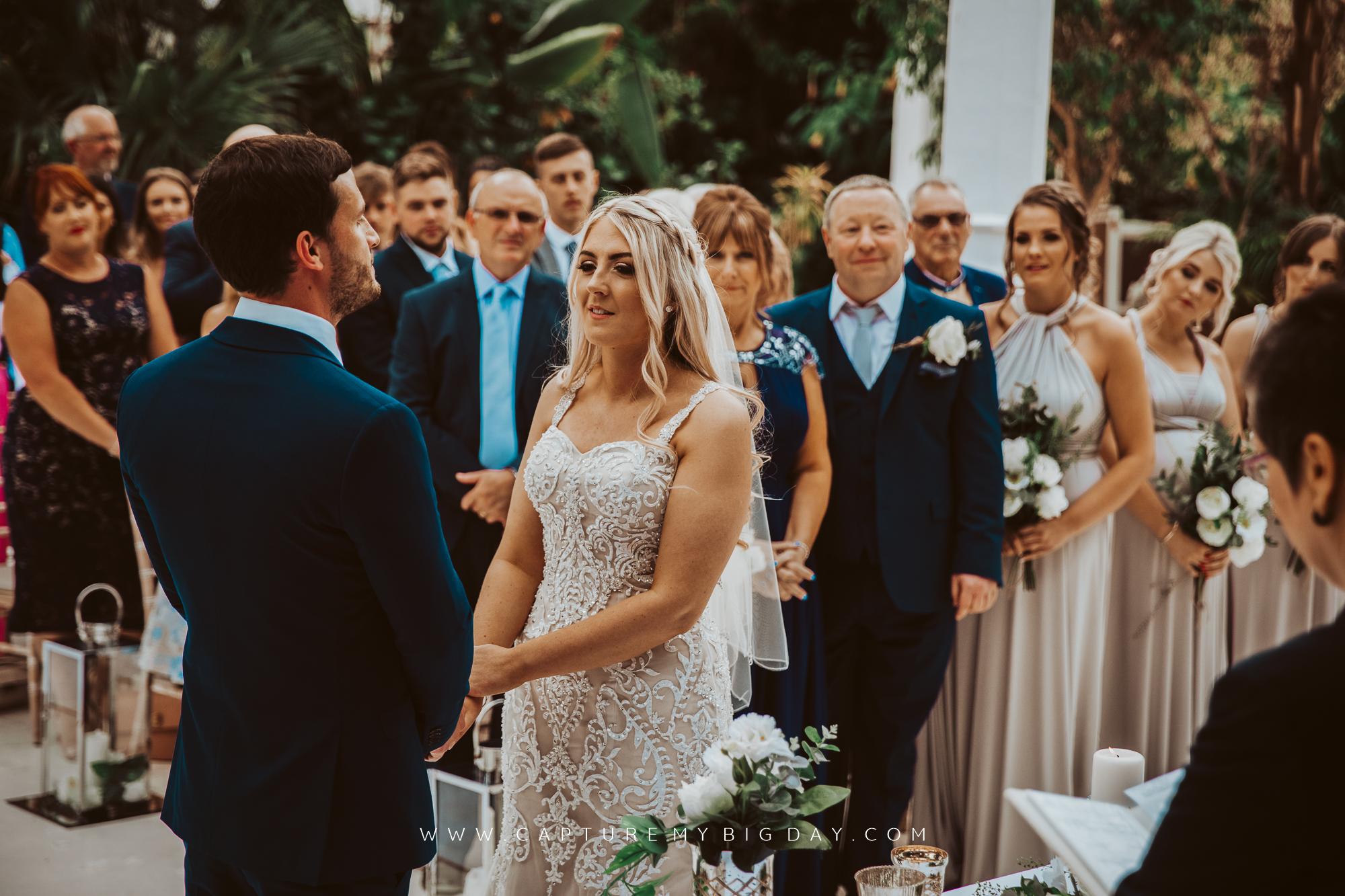 wedding vows at Sefton park